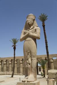 Statue of Ramses Ii with His Daughter Benta-Anta by Richard Maschmeyer