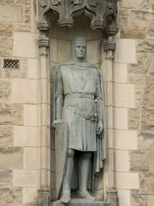 Statue of Robert the Bruce at Entrance to Edinburgh Castle, Edinburgh, Scotland, United Kingdom by Richard Maschmeyer