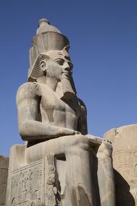 Statue of Seated Ramses Ii, Court of Ramses Ii, Luxor Temple by Richard Maschmeyer