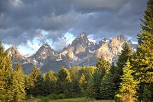 Teton Range, Grand Teton National Park, Wyoming, United States of America, North America by Richard Maschmeyer