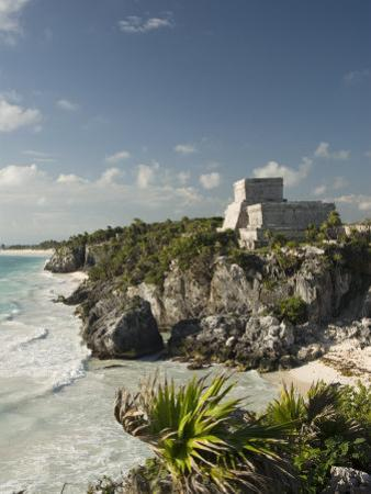View to the North and El Castillo at the Mayan Ruins of Tulum, Quintana Roo by Richard Maschmeyer