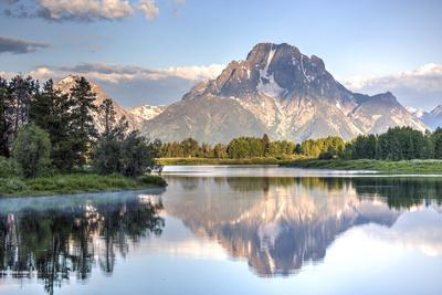 Water Reflection of Mount Moran