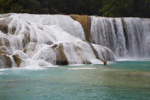 Waterfalls, Rio Tulija, Aqua Azul National Park, Near Palenque, Chiapas, Mexico, North America by Richard Maschmeyer
