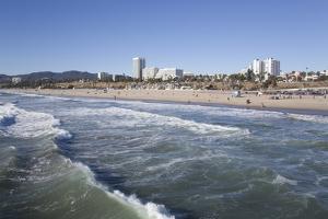 Waves at Santa Monica State Beach, Santa Monica, California, United States of America by Richard Maschmeyer