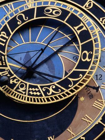 Astronomical Clock Detail in Staromestske Square, Prague, Czech Republic