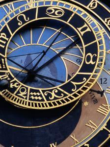 Astronomical Clock Detail in Staromestske Square, Prague, Czech Republic by Richard Nebesky