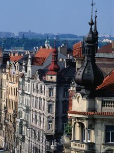 Buildings along Masarykovo Embankment, Prague, Czech Republic by Richard Nebesky