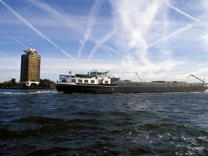 Cargo Boat on the River Ij, Amsterdam, the Netherlands (Holland) by Richard Nebesky