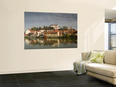 Castle and Houses Reflected in Drava River