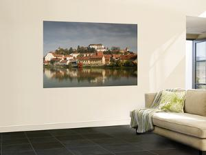 Castle and Houses Reflected in Drava River by Richard Nebesky