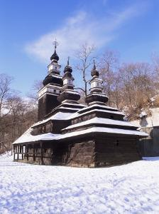 Christian Orthodox Wooden Church of St. Michael from the 18th Century, Prague, Czech Republic by Richard Nebesky