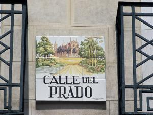 Close-Up of a Tile Street Sign, Calle Del Prado, Centro, Madrid, Spain by Richard Nebesky