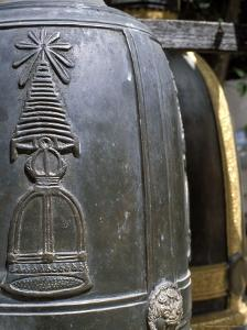 Detail of Bell at Buddhist Temple, Wat Chana Songkhram, Bangkok, Thailand, Southeast Asia by Richard Nebesky