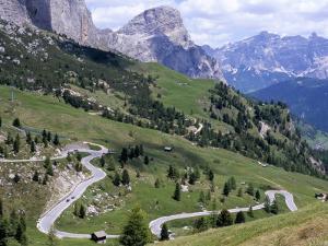 Eastern Road Below Gardena Pass, 2121M, Dolomites, Alto Adige, Italy by Richard Nebesky