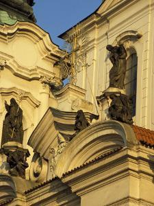 Exterior Detail of Baroque Facade of St. Nicholas Church, Stare Mesto, Czech Republic by Richard Nebesky