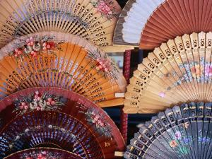 Fans at Stall, El Rastro Market, La Latina, Madrid, Spain by Richard Nebesky