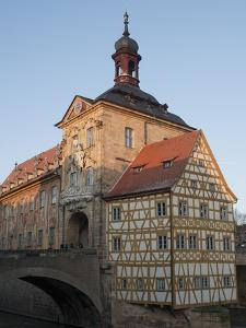 Gothic Old Town Hall (Altes Rathaus) With Renaissance and Baroque Sections of Facade, Bavaria by Richard Nebesky