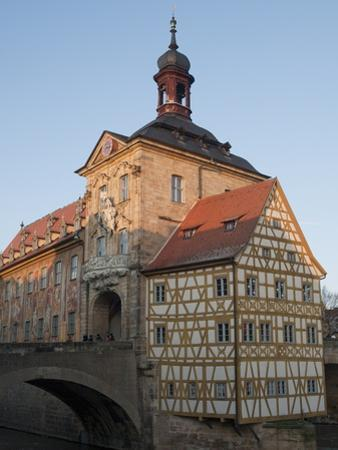 Gothic Old Town Hall (Altes Rathaus) With Renaissance and Baroque Sections of Facade, Bavaria