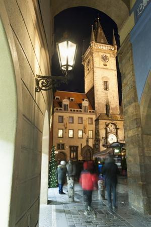 Gothic Old Town Hall at Twilight