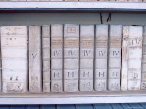 Historical Books at Strahov Monastery, Hradcany, Prague, Czech Republic, Europe by Richard Nebesky