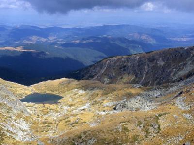 Lake in Valley Below Hajduta Peak, 2465M, in Rila Mountains, Rila National Park, Bulgaria