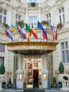 Main Entrance of Luxury Grandhotel Pupp in the Spa Town of Karlovy Vary, West Bohemia by Richard Nebesky