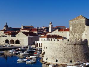 Old Fort Overlooking Marina, Dubrovnik, Croatia by Richard Nebesky