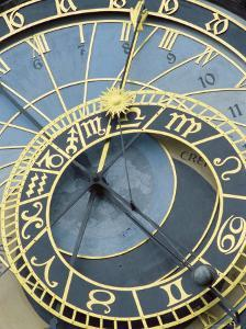 Old Town Clock on Town Hall at Old Town Square, UNESCO World Heritage Site, Czech Republic by Richard Nebesky