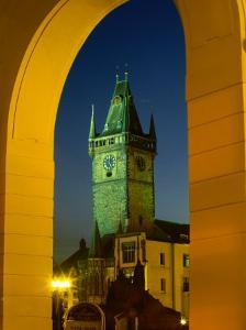 Old Town Hall Clock Tower in Old Town Square, Prague, Czech Republic by Richard Nebesky