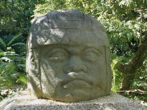 Olmec Stone Head at Parque-Museo La Venta, Villahermosa, Tabasco, Mexico, North America by Richard Nebesky