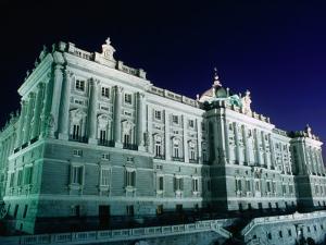 Palacio Peal at Night, Centro, Madrid, Spain by Richard Nebesky