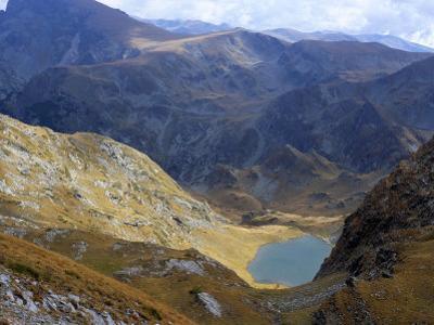 Panicata Lake in Valley Below Hajduta Peak, 2465M, in Rila Mountains, Rila National Park, Bulgaria