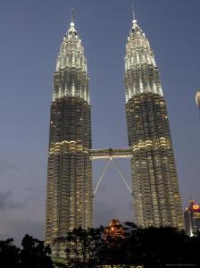 Petronas Twin Towers, One of Tallest Buildings in World, at Twilight, Kuala Lumpur, Malaysia by Richard Nebesky
