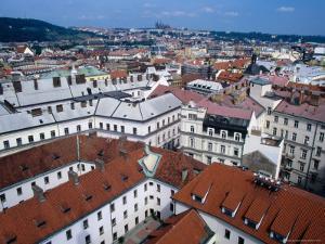 Rooftops of Nove Mesto Towards Prague Castle, Prague, Czech Republic by Richard Nebesky