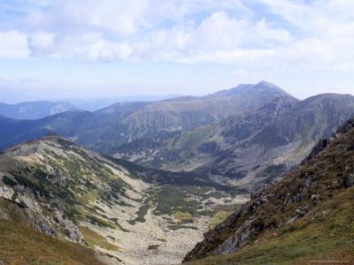 Siroka Valley Dominated by Dumbier Peak, 2043M, in Low Tatry, Nizke Tatry, Zilina Region, Slovakia