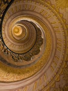 Spiral Staircase at Baroque Monastery Church of Sts Peter and Paul by Richard Nebesky