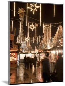 Stalls of Christmas Market, With Baroque Trinity Column in Background, Hauptplatz, Linz, Austria by Richard Nebesky