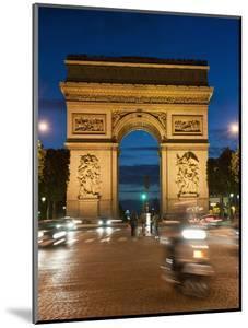 Traffic around Arc De Triomphe, Avenue Des Champs Elysees, Paris, France, Europe by Richard Nebesky
