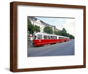 Tram, Leopoldstadt, Vienna, Austria by Richard Nebesky