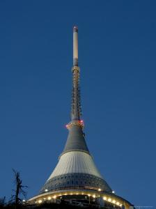 Tv Tower on Top of Jested Mountain Dominates Town and is Good Example of Modern Architecture by Richard Nebesky