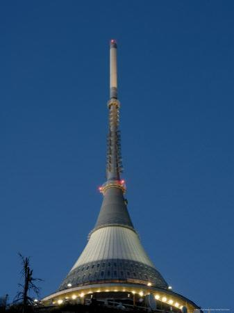 Tv Tower on Top of Jested Mountain Dominates Town and is Good Example of Modern Architecture