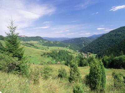 Valley Scenery Around Village of Biela, Mala Fatra Mountains, Slovakia, Europe