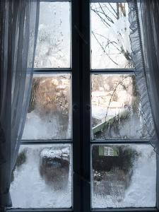 View of Bad Tolz Spa Town Covered By Snow at Sunrise From Window, Bavaria, Germany, Europe by Richard Nebesky