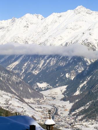 Village of Solden in Tirol Alps, Tirol, Austria