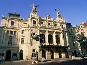 Vinohrady Theatre Dating from 1909 at Namesti Miru (Square), Vinohrady, Prague, Czech Republic by Richard Nebesky