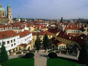 Vrtbov Garden and Rooftops of Mala Strana, Prague, Czech Republic by Richard Nebesky