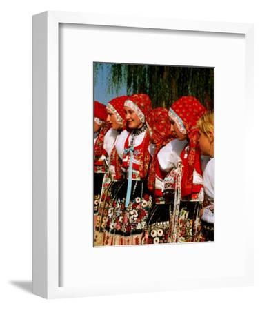 Women Wearing Folk Dress During St. Wenceslas Feast Festival, Kyjovska Vs, Moravany, Czech Republic