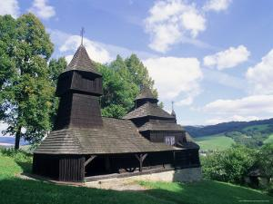 Wooden Orthodox 18th Century Church of St. Cosmas and St. Damian Dating from 1709 by Richard Nebesky