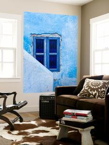 A Blue Painted Window in Le Jardin Des Biehn, a Riad or Small Hotel in the Medina of Fez by Richard Nowitz