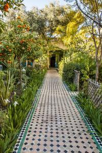 A Garden Path in Le Jardin Des Biehn, a Riad or Small Hotel in the Medina of Fez by Richard Nowitz